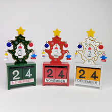 Christmas Tree Desktop Calendar Decoration Christmas Creative Gifts Wooden