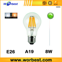4w 6w 8w Glass harmonic drive color temperature adjustable control led bulb light filament LED Bulb Light Lamp for home designs