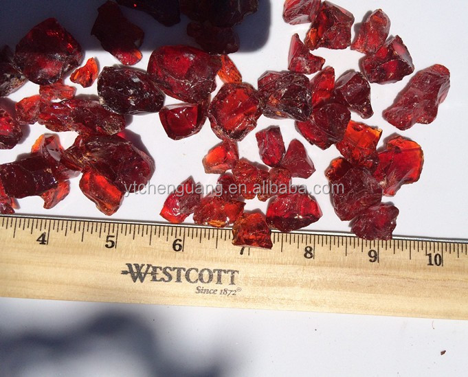 countertop colored broken glass chips