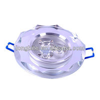 Round Crystal 3*1W LED Downlights with cut edge