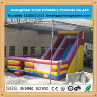 2015 new design Inflatable Jumping Castle with slide