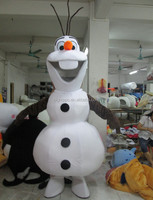 lovely frozen snowman olaf mascot costume for adult