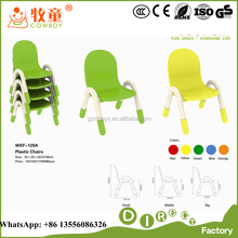 WKF-129A Children Kindergarten Furniture Kids Plastic Chairs for Sale, Colorful Stackable Plastic Chairs for Kindergarten