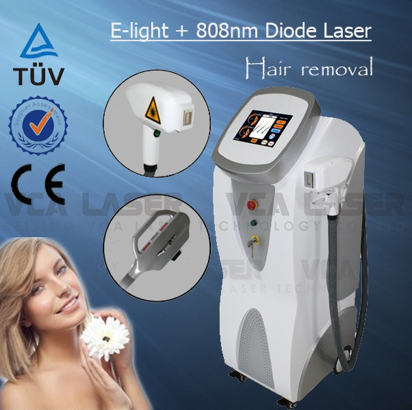 Home use elight 808nm laser permanent hair removal system