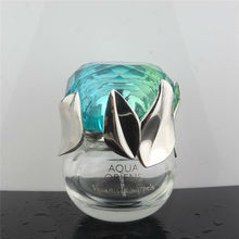 Round Nice Curved Clear Glass Perfume Bottle Branded Perfume Bottle perfumes and fragrances