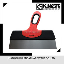 Stainless steel scraper blade with rubber handle