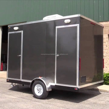 high quality prefab mobile bathroom toilet trailer transported