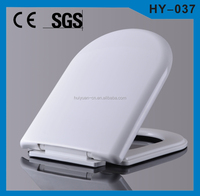 Plastic soft closing toilet seat cover