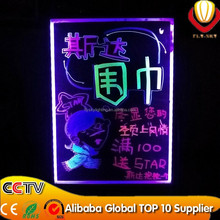 ali-express new innovation LED writing board for shops advertising tempered glass & aluminium alloy frame