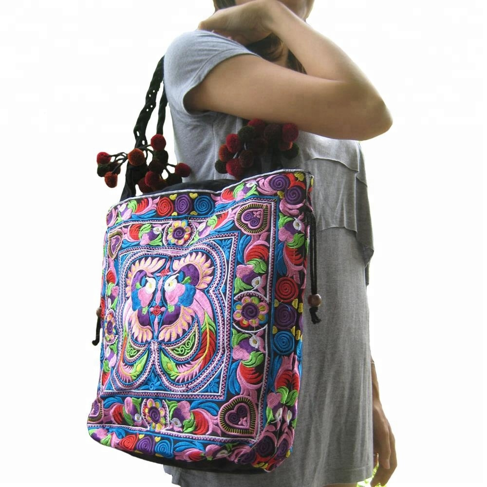 Boho Women Indian Handbag Embroidery Shoulder Bags <strong>Totes</strong>