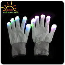 Flashing Corlorful Light Up Fingertip LED Gloves, cool Mittens Rave Party Magic Gloves