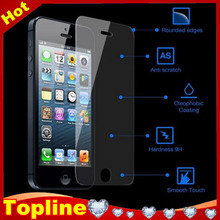 0.2mm 0.33mm gold mirror diamond tempered glass screen protector for iPhone 5