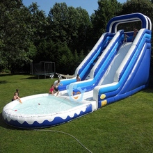 pvc tarpaulin giant inflatable floating water pool slide for adult