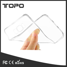 Hot selling transparent phone case for samsung s8 s8 plus ultra thin soft tpu shockproof back cover phone shell