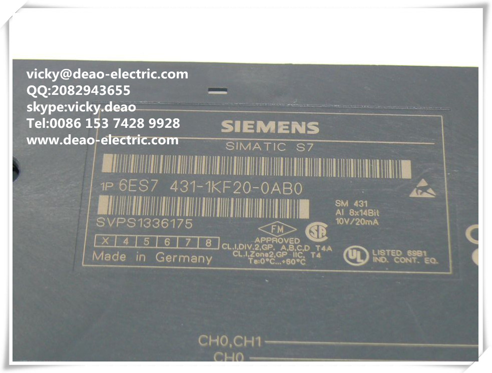 competive price SIEMENS S7 400 PLC !siemens PLC 6ES7431-1KF00-0AB0,100% new with one year warranty