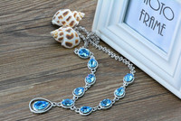 925 Sterling Silver Austrian Crystal Necklace