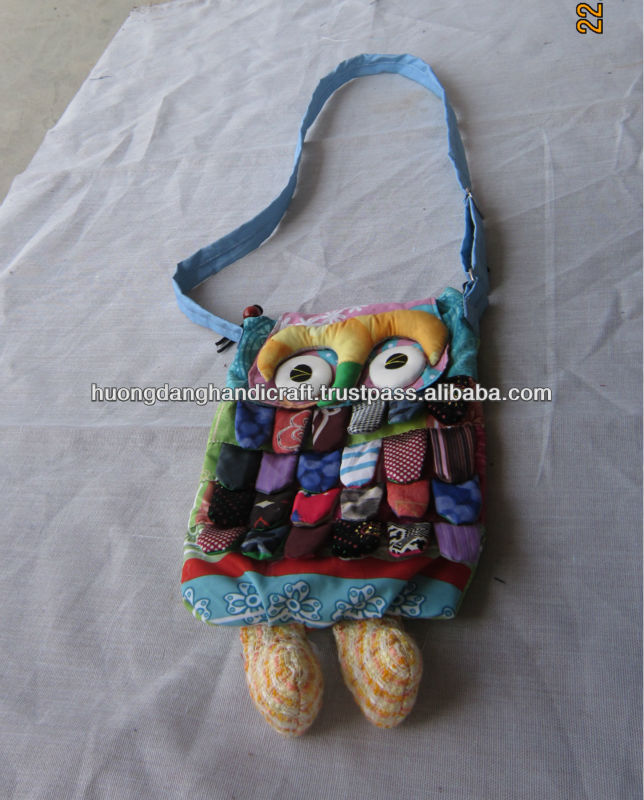 Cute Animal Embroidery bag For Kids -100% Handmade From Vietnam-Best Products For Fashion