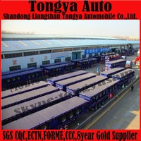 2015 Factory Price Tri-axle 60 Ton 40ft Container Flatbed Truck Trailer / Semitrailer / Container Semi-trailer With Twist Lock