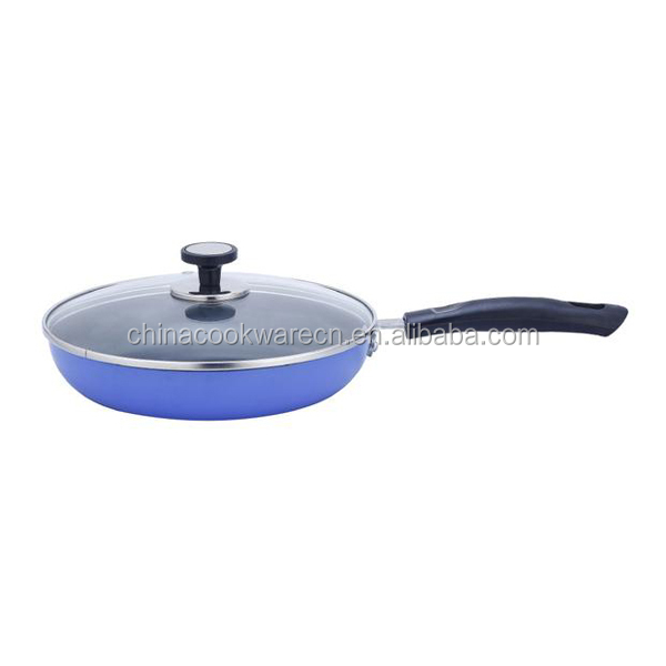 Aluminum non-stick fry pan with lid
