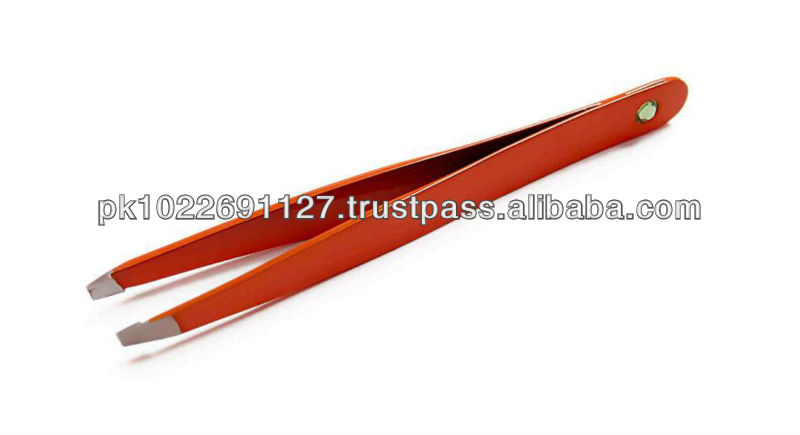 Hot Red Eyebrow Tweezers on wholesale price with custom brand