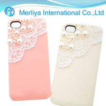 Sweet Lace Pearl TPU Phone Case For iPhone 4/4s/5