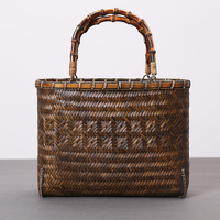 Chinese Factory Direct Supply Wholesale Eco-friendly Natural Rectangular Bamboo Woven Basket