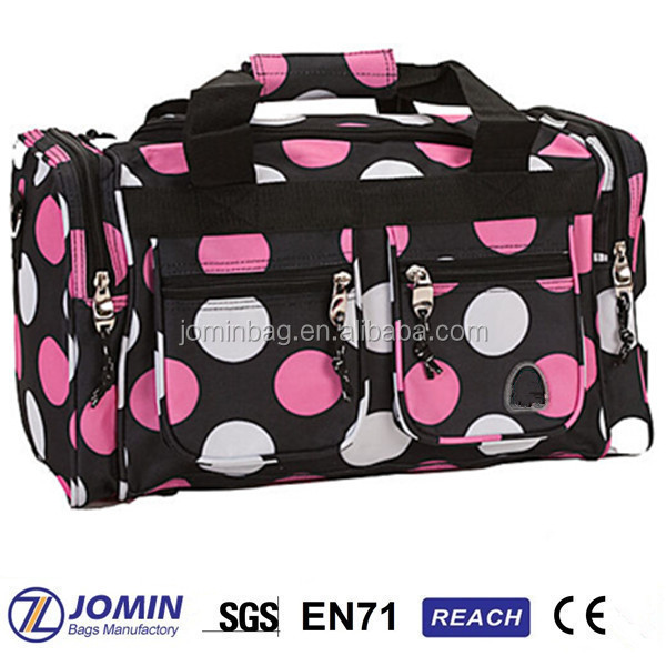 shoulder hot pink luggage sets, leisure travel organizer bag set
