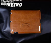 2012 new design leather portfolio case for ipad 2