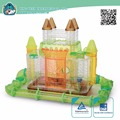 Transparent Plastic Dream Castle new premium Small Animal Cages Hamster Cage Equipped with moat tube