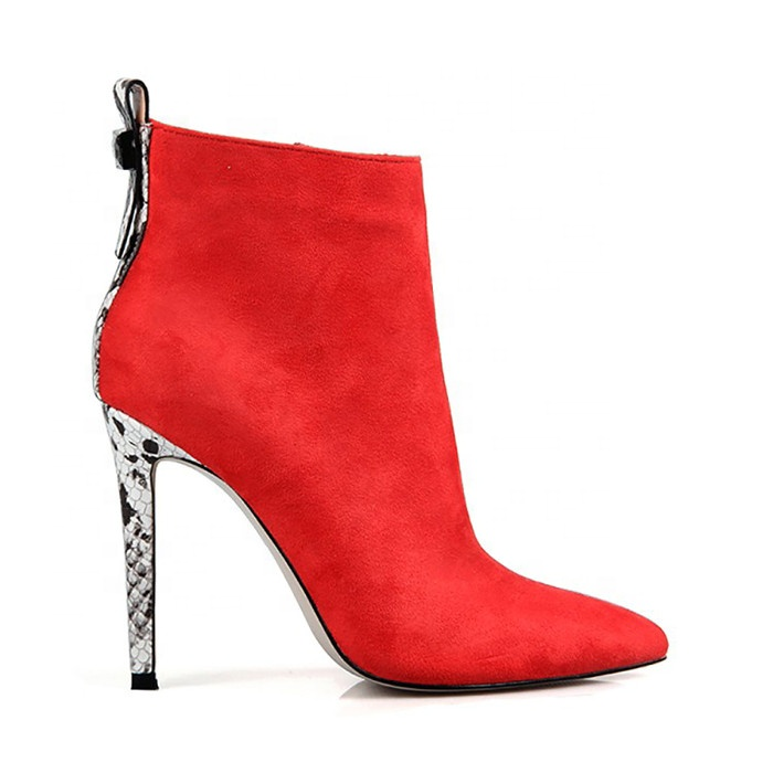 2019 Fashion Latest design new popular Thick heel ankle boots women hot sale