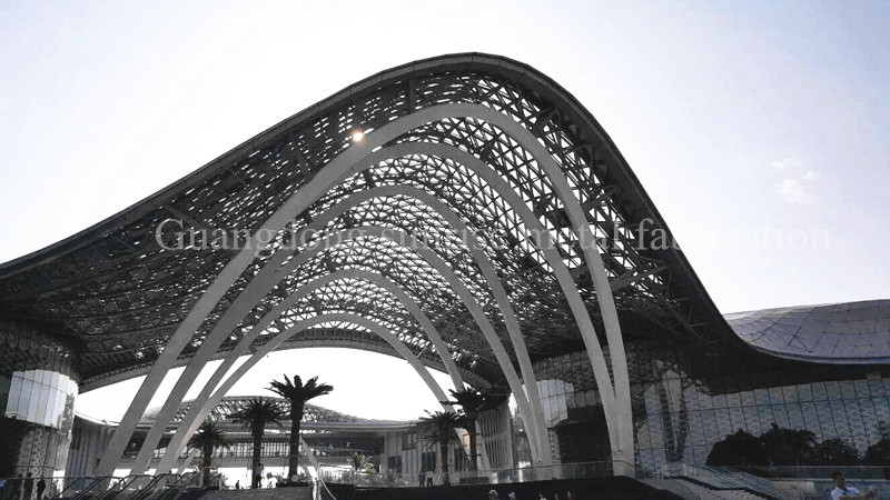 Modern Steel Structure Shopping Mall / steel space frame roofing