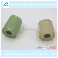 LG18 Hand wrapping Green pvc stretch film for cables and wire