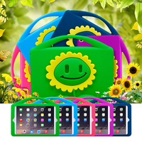 For Kids Sunflower Silicone Case With Stand Function For iPad Mini 4 3D Cute Cartoon Style Shockproof Case