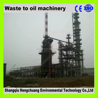 Negative pressure vaccum continuous used waste tire pyrolysis oil machine with 85% diesel oil output