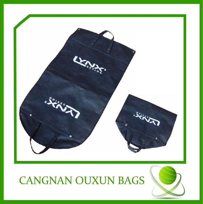 Easy carry non woven folding travel garment bag