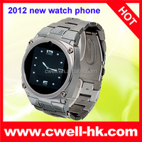 TW818 Metal Watch Mobile Phone Four Band GSM 1.54 inch high definition touch screen With Bluetooth JAVA MSN QQ