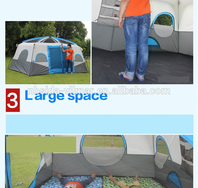 8-12 person large Ultra Light Waterproof Fireproof 4 Season Outdoor Custom Equipment China truck tent
