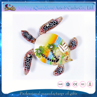 tourist souvenir turtle resin fridge magnet logo