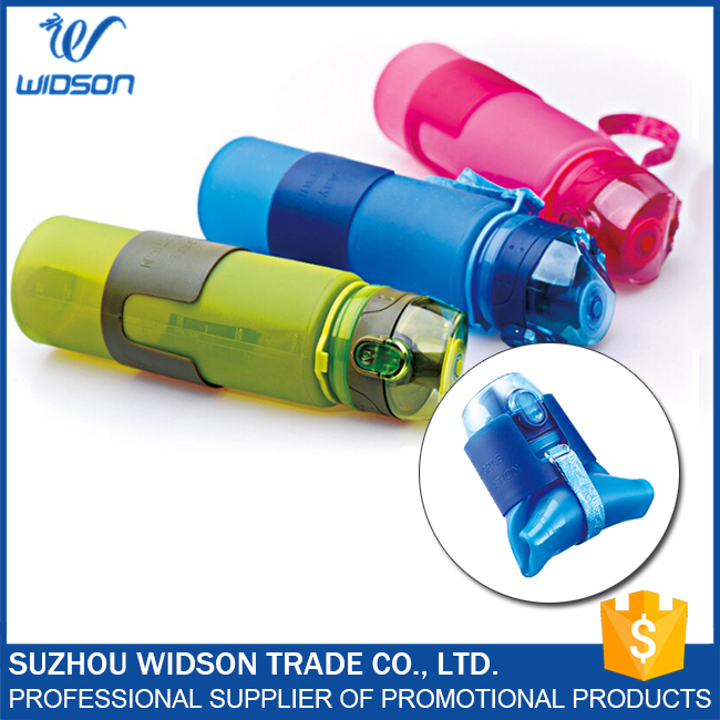 Leak-proof Portable Water Drinking Foldable Silicone Bottle
