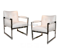 Armchairs in the Style of Milo stainless steel chair Living furniture