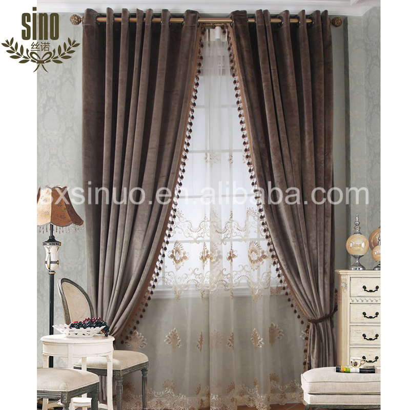 Home Decorative Luxury blackout door panel curtains