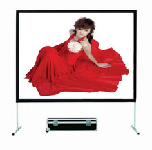 Fast Floding Screen Rear & Front Projection Screen Outdoor Quick Fold Mobile Foldable projector screen