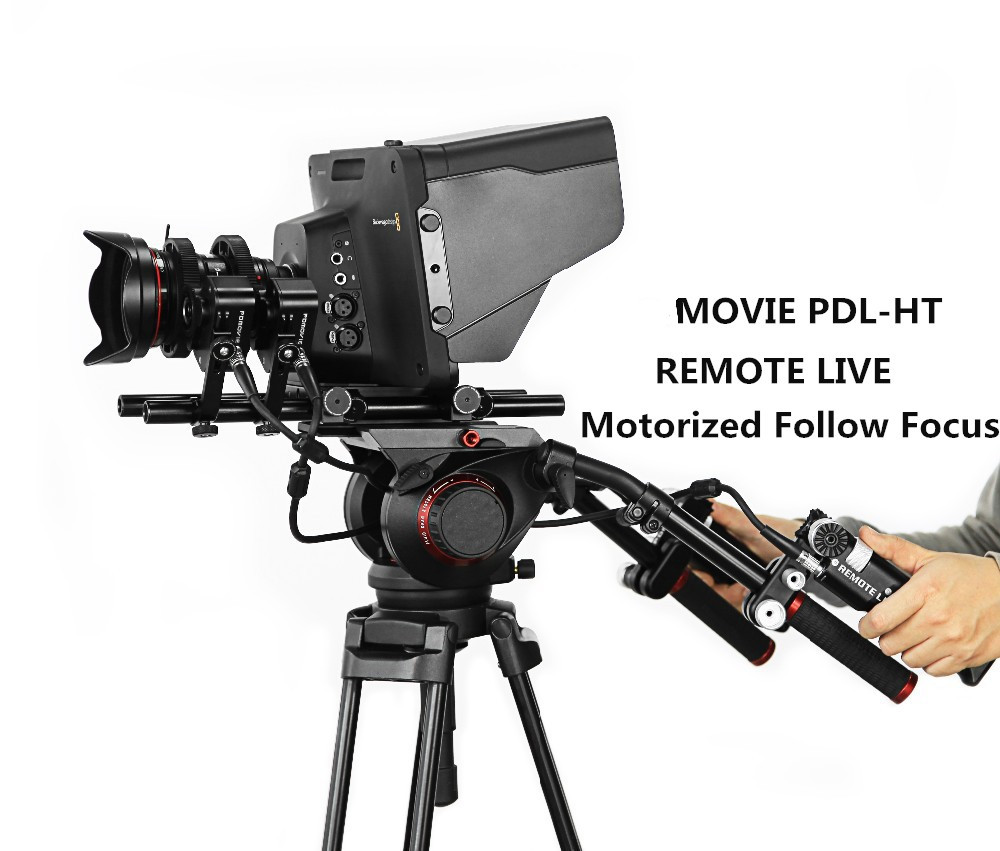 PDL-HT Motorized Wired Remote Follow Focus Controller for professional film and broadcast camera ENG lenses