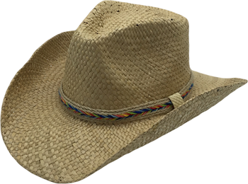 T60-45Wholesale New Style Summer Seagrass Straw Cowboy Hats For Mens