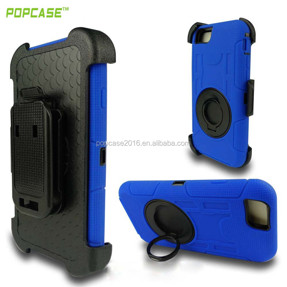 DIY OEM Design full protective Commander combo back case cover 360 degree rotatable kickstand cell phone case for iphone 6 6s