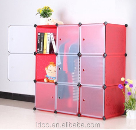 Big red garderobe wardrobe magic cubes wardrobes for small spaces for sale FH-AL0031-9