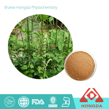 High quality black cohosh P.E. 2.5% 8% Triterpene Glycosides by HPLC