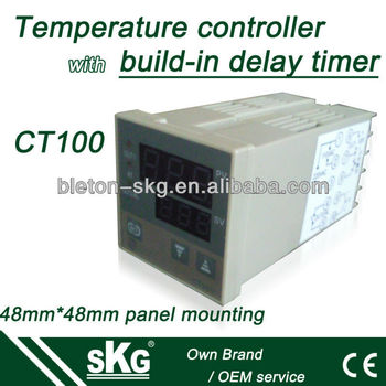 CT100 48*48mm panel mounted temp. controller with timer