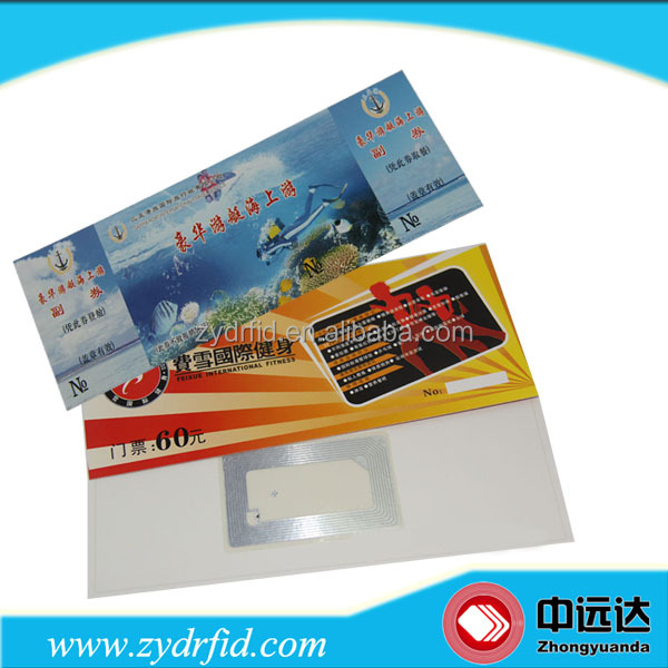RFID Entrance Tickets/paper printed nfc tickets