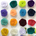 New Sytle Mini Felt Rose Flower Fabric Rolled Rosette Hair Flower IN STOCK